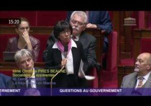 Autonomie fiscale des départements – Question de Christine Pirès Beaune