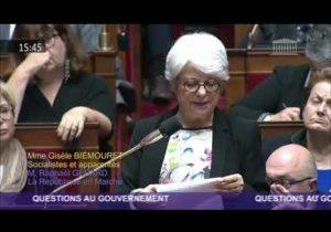 Gisèle Biémouret alerte sur la situation des travailleurs en situation de handicap